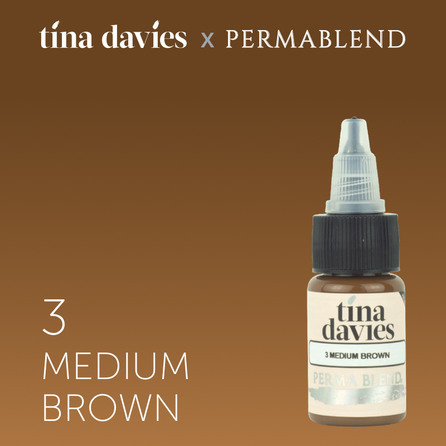 "Пигмент для татуажа бровей ""Tina Davies 'I Love INK' 3 Medium Brown"""
